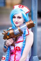 Nurse Jinx - League of Legends by Paper-Cube