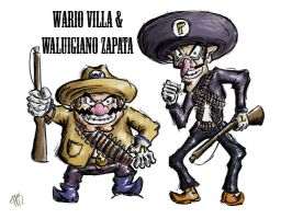 Wario and waluigi by MrAnderchong