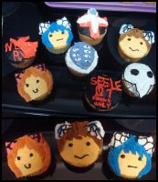 evangelion cupcakes. by sheshechan