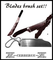 Axes, knives, saws brush set by X-Cerberus-X