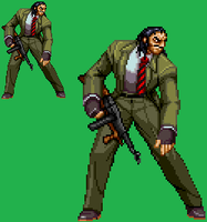 Sprite Stuff: Mr. X (Streets of Rage) by SXGodzilla