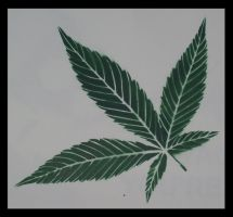 Green Pot Leaf by simpletoker