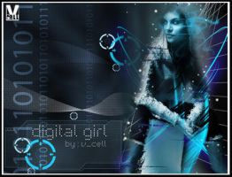 digital girl by vcell