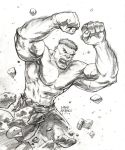 Supanova 09 Commission_Hulk by FlowComa