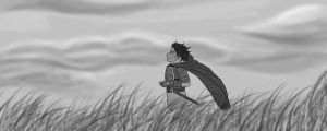 Dante in the field B and W by KimiSaku19