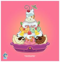Kawaii Ice Cream Sundae 60k by KawaiiUniverseStudio