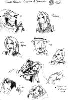 FMA movie skethes by CrazyHobbitGirl