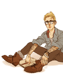 Commission - Hipster!Steve Rogers by batcii