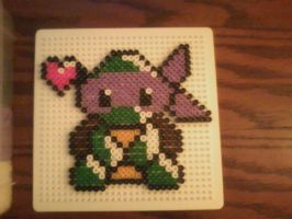 Chibi Donnie-Perler Beads by HopeDiamond101