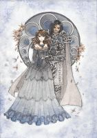 Princess Nyxena and Lord Thanatos by wickedz