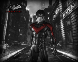 Nightwing (Red symbol) by BatmanInc