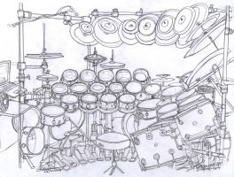 Terry Bozzio's drum set by WaChuLeRuXx