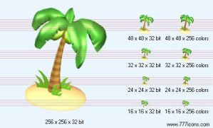 Coconut tree Icon by science-icons