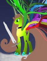 Make New Oc Ider new wings and new sword work 3 by daylover1313