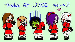 Thanks For 2300 Views by Elcra