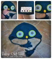 Baby Owl Hat for SweetGypsyLife by the-carolyn-michelle