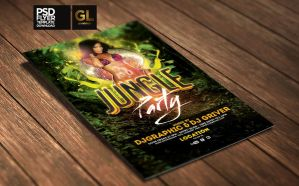 Jungle party Flyer Template by Grandelelo