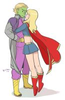 Brainy and Kara: in 2010 [SUPERMAN: LSoNK] by Ricken-Art