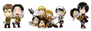 Snk pairings chibis by Ayuyowsky