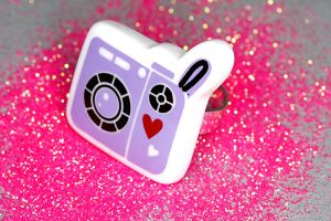Kawaii Purple Camera Ring by xLilithScreamx