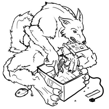 Werewolf Tech Support by Stucken