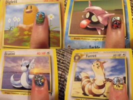 Pokemon Nails by TheWorldIsLove