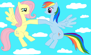 Fluttershy and Rainbow Dash by Fluttershy626