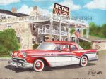 1957 Buick Century At Hotel El Rancho by FastLaneIllustration