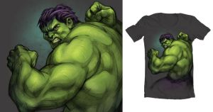 Hulk shirt entry for Threadless by Inton