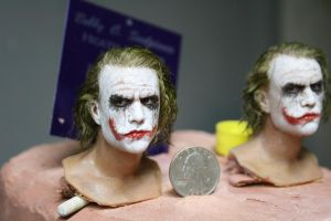 one sixth scale joker head 2 by BobbyC1225