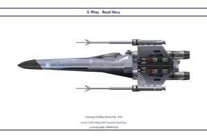 Fantasy 350 X-Wing Royal Navy by WS-Clave