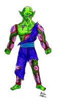 (Request) Barefoot Battle Damaged Piccolo Jr. by Jaylastar