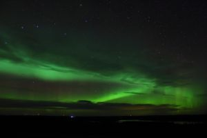 Aurora over a lake 2 by Antza2