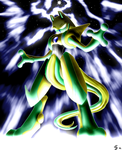 Shiny Deoxys Infects Mewtwo by Esepibe