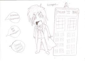 Doctor Who Comic  Thing by BlackRoseLegend