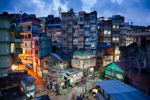 Kalimpong, Blue Hour by Dapicture