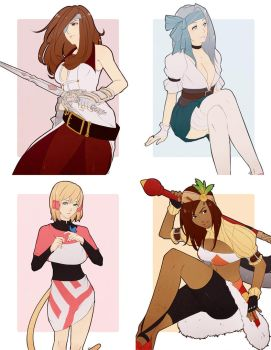 some ladies by chocographs