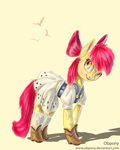 apple bloom (3 hours paint) by Obpony