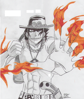 fire fist ace by sarawrjanee