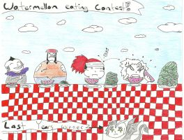 Watermellon eating contest by Bbird11