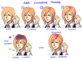 How I Color Gradient Hair by ridekasama