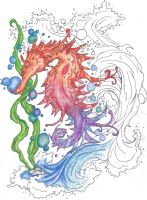 Seahorse Flash-Unfinished by Caylyngasm