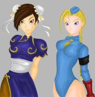 Chun li and Cammy by Yuri-hime
