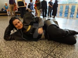 Loki is just chillin on the floor by YazVolKanik