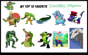 My Top 10 Alligators And Crocodiles! by Austria-Gentleman