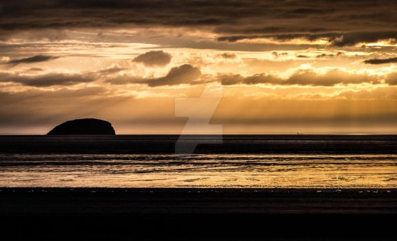 Sunset at Western Super Mare Beach by photographybypixie