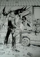 THE WALKING DEAD TRIBUTE INKING by BUMCHEEKS2