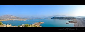 KHANPUR DAM IN PANORAMA by meefro683
