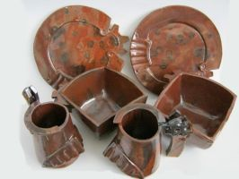 Rust Color Table Set by 6-fingers