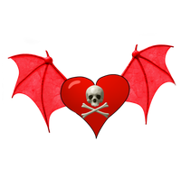 Winged Heart PNG by vamp1967